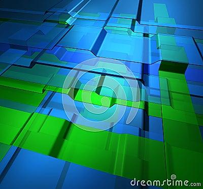Transparent levels technology background