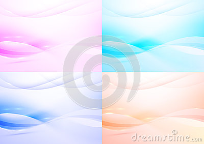 Transparent modern background - collection