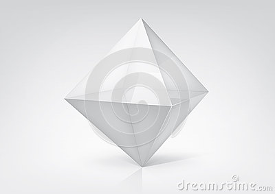 Transparent octahedron