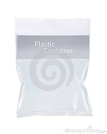 Transparent plastic pack
