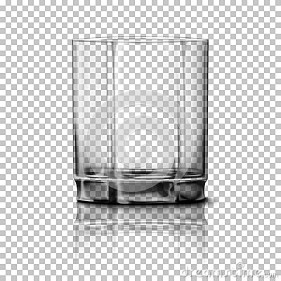 Free Transparent Realistic Vector Glass Isolated On Plaid Background With Reflection, For Design, Branding. Royalty Free Stock Photos - 75050388