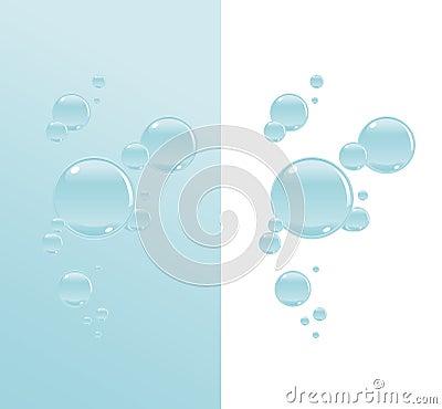 Transparent water bubbles