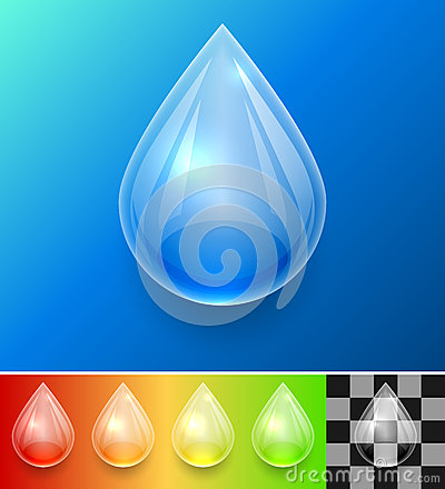 Transparent water drop template