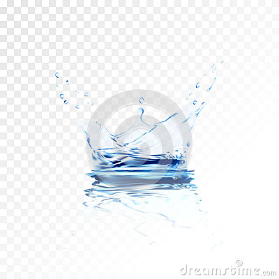 Free Transparent Water Splash With Reflection And Drops . 3d Illustration Vector. Aqua Surface Background Created Royalty Free Stock Photos - 92050678