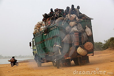 Transport in Africa Editorial Stock Photo