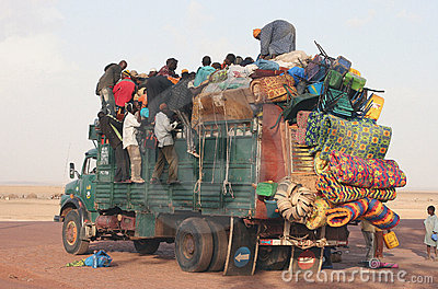 Transport in Africa Editorial Stock Image