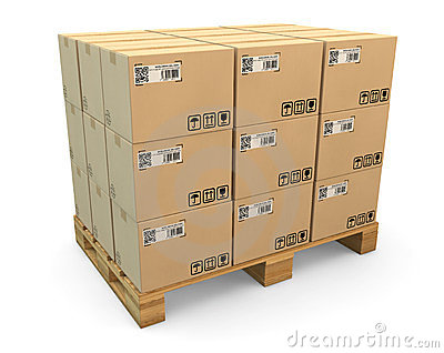 Transport Boxes On Freight Pallet Stock Photo Image