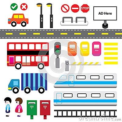 Transport Cartoon Elements