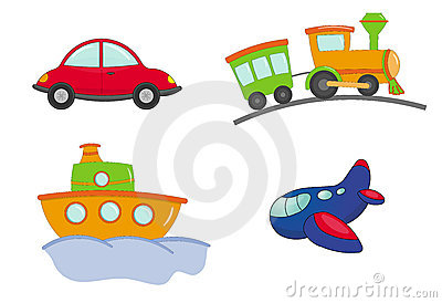 Transport cartoon style