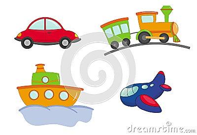 Transport cartoon style