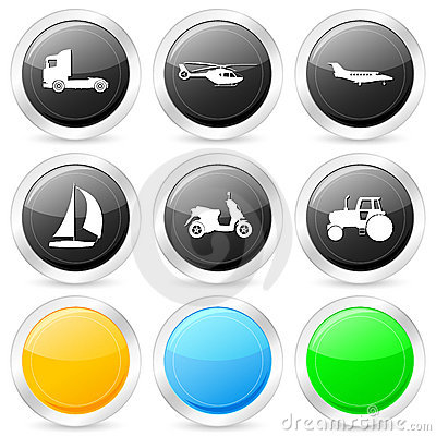 Transport circle icon set 2