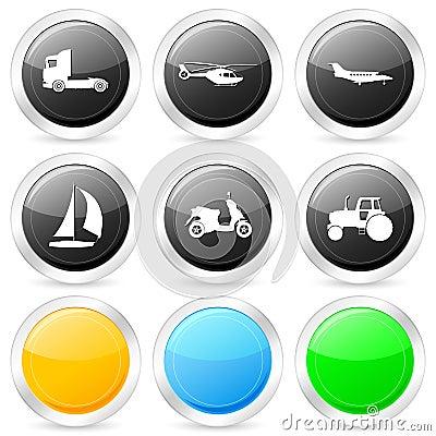 Transport circle icon set 2