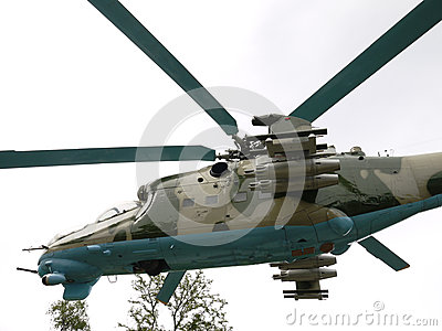 Transport-combat helicopter Mi24-B