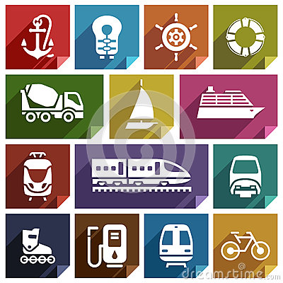 Free Transport Flat Icon-01 Stock Photography - 80269492