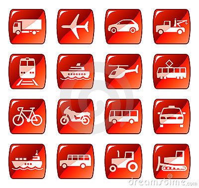Free Transport Icons / Buttons 4 Stock Images - 6709674