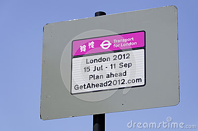 Transport for London sign on Park Lane Editorial Photo