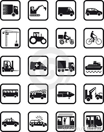 Transport occupation icons