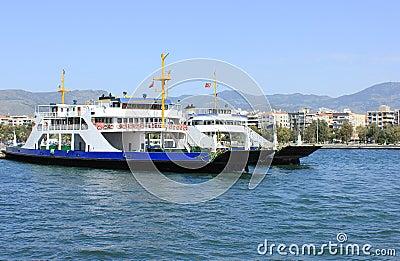 Ferryboat in Izmir (Bostanli), Turkey