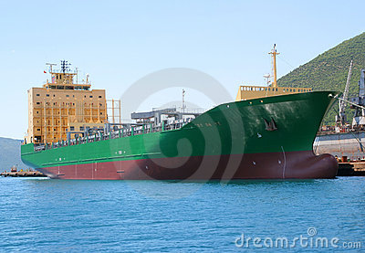 Transport ship.