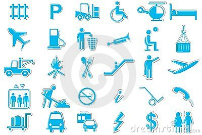 Transport Symbol Icon Set