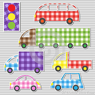 Transport textile stickers
