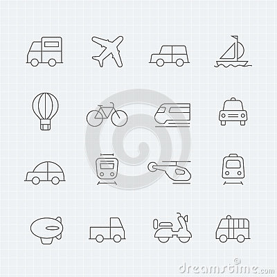 Transport thin line symbol icon