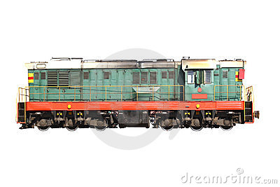 Transport. train isolated on white