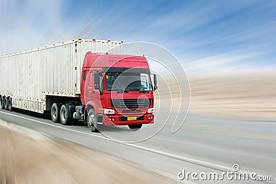 Transport truck Stock Photo