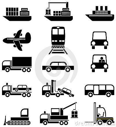 Transport and vehicles -  icons