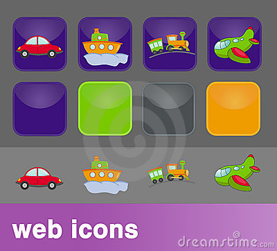 Transport web icons