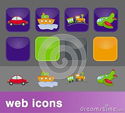 Transport web icons