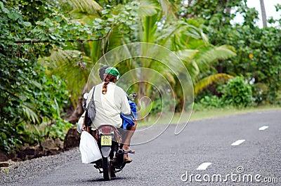 Transportation in Aitutaki Cook Islands Editorial Photo
