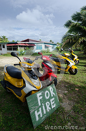 Transportation in Aitutaki Cook Islands Editorial Stock Image
