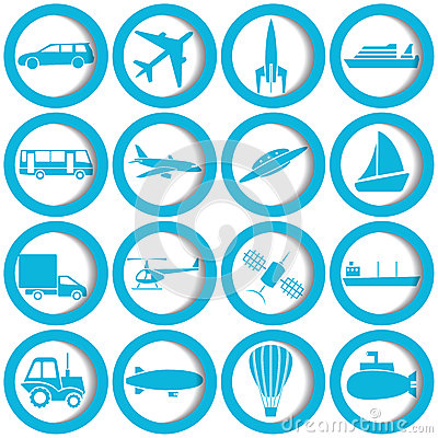 Free Transportation And Travel Icons Royalty Free Stock Photography - 26960027