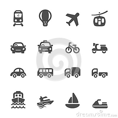 Free Transportation And Vehicle Icon Set, Vector Eps10 Stock Image - 51186841