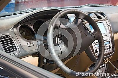 Transportation auto show inside car