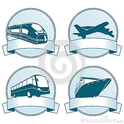 Transportation Banner Icons