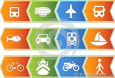Transportation Buttons - Chevron