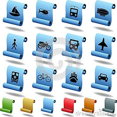 Transportation Buttons - Scroll