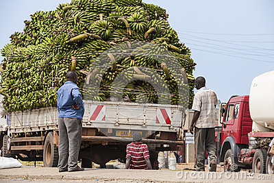 Transportation with car problems in Africa Editorial Photo