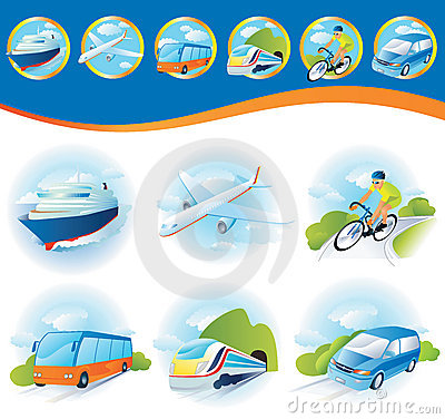 Transportation Icon Set Royalty Free Stock Photo - Image: 21140135