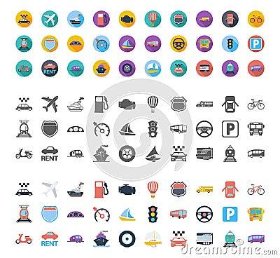 Free Transportation Icon Set Stock Images - 61671034