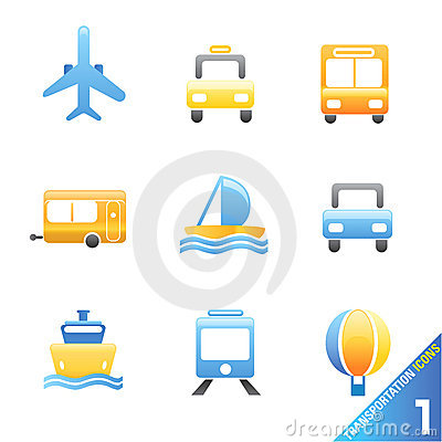 Transportation icons 1