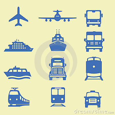 Free Transportation Icons Stock Images - 9253814