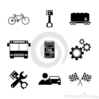 Free Transportation Icons. Flat Design Style Stock Images - 62060974
