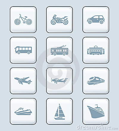 Transportation icons | TECH series