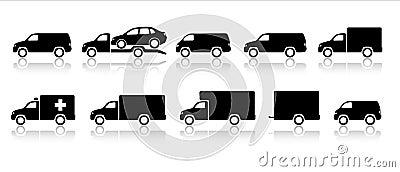 Transportation icons - trucks & vans