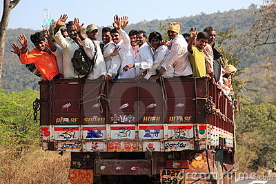 Transportation in India Editorial Stock Image