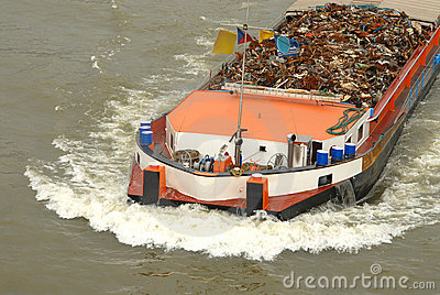 Transportation of metal on a barge