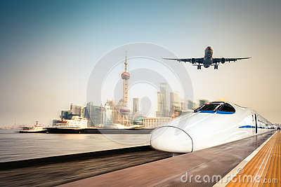 Transportation and modern urban background
